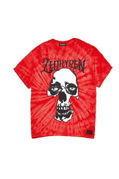 【予約商品】S/S TEE - SKULL HEAD - RED / TIE DIE