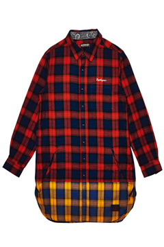 【予約商品】LONG SWITCHING SHIRT L/S RED / YELLOW