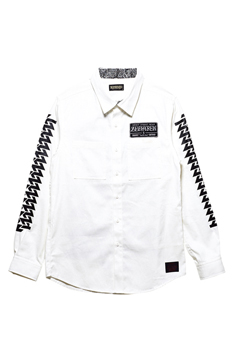 EMBLEM SHIRT L/S WHITE / Cut the world