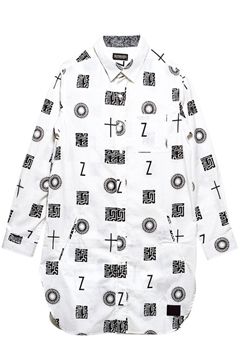 LONG SHIRT L/S WHITE / 如意宝珠