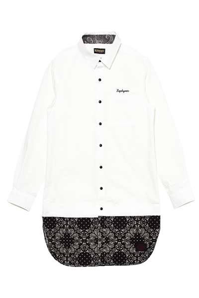 【予約商品】LONG SWITCHING SHIRT L/S WHITE / PAISLEY