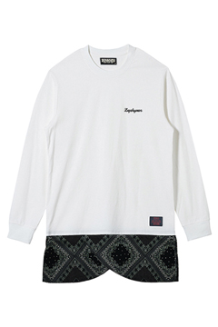 SWITCHING TEE L/S WHITE