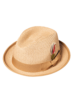 PANAMA HAT FEATHER BEIGE