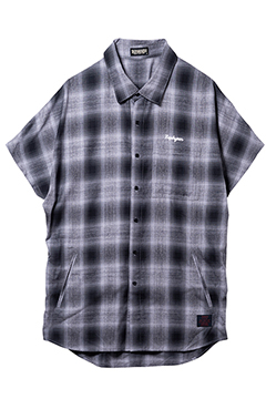【予約商品】DOLMAN SLEEVE SHIRT S/S BLACK / CHECK