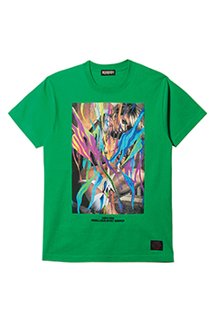 S/S TEE - GIRL TATTOO - GREEN