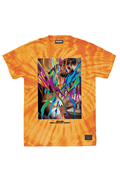S/S TEE - GIRL TATTOO - ORANGE / TIE DIE