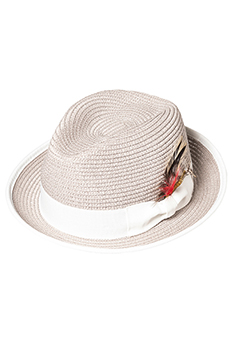 PANAMA HAT FEATHER WHITE