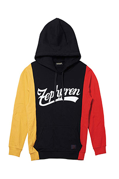 SWITCHING PARKA BLACK / MUSTARD / RED