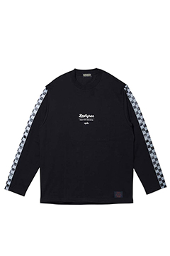 CHECKERED FLAG TEE L/S BLACK