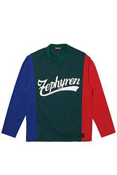 SWITCHING TEE L/S GREEN / BLUE / RED