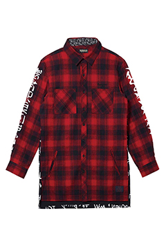 SWITCHING SHIRT L/S RED