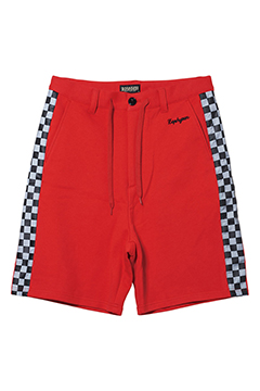 CHECKERED FLAG SHORTS RED