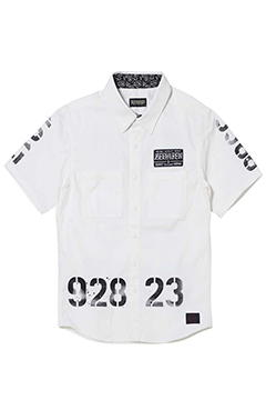 【予約商品】Zephyren(ゼファレン) EMBLEM SHIRT S/S WHITE / oldschool