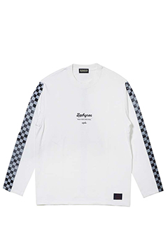 CHECKERED FLAG TEE L/S WHITE