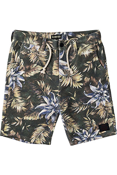 SWEAT ALOHA SHORTS BLK