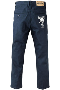 WORK PANTS -SKULL HEAD- NVY