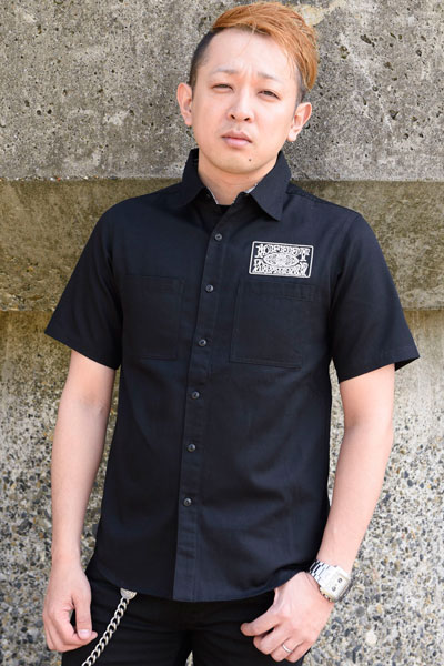 WORK SHIRT S/S -10-FEET×Zephyren - BLK