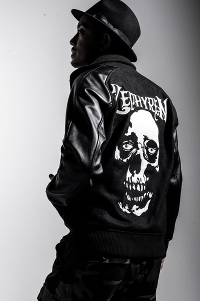 STUDIUM JKT -SKULL HEAD- BLK