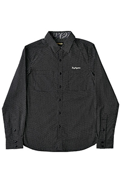 WORK SHIRT L/S -HIGH TIME- BLK/DOT