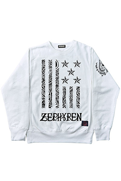 HEAVY WEIGHT SWEAT -REBEL FLAG- WHT