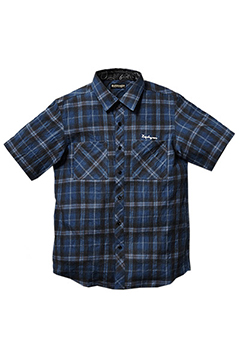 CHECK SHIRT S/S -Resolve- NVY