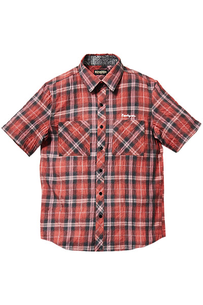 CHECK SHIRT S/S -Resolve- RED