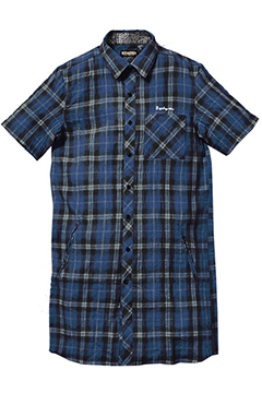 LONG CHECK SHIRT S/S -Resolve- NVY