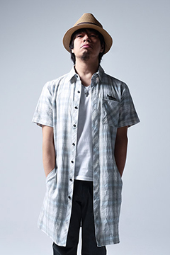 LONG CHECK SHIRT S/S -Resolve- WHT