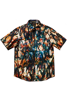 TIE DYE TRIBAL SHIRT -Resolve- BLU