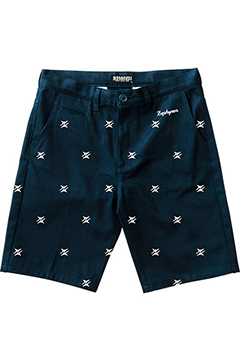 PATTERNED WORK SHORTS -Thorn- NVY