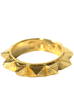 STUDS METAL RING  GLD