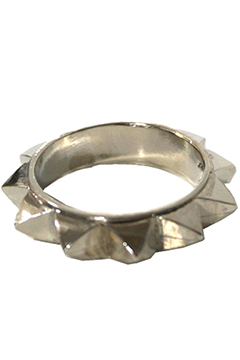 STUDS METAL RING  SIL