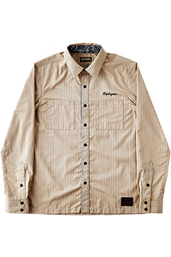 STRIPE SHIRT L/S -CASINO- BGE
