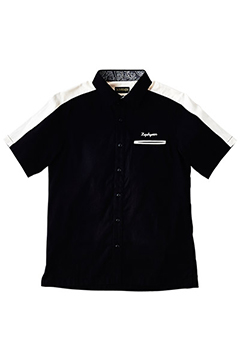 SWHITCHING WORK SHIRT S/S -CHICAGO- BLK/WHT