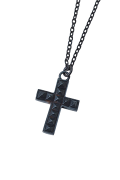 【予約商品】METAL NECKLACE -STUDS CROSS- BLACK