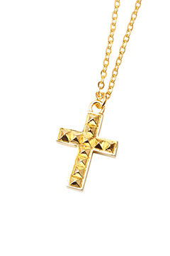 【予約商品】METAL NECKLACE -STUDS CROSS- GOLD