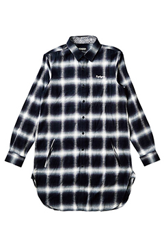 LONG SHIRT L/S -Resolve- BLACK-CHECK