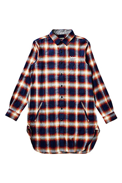 LONG SHIRT L/S -Resolve- NAVY-CHECK