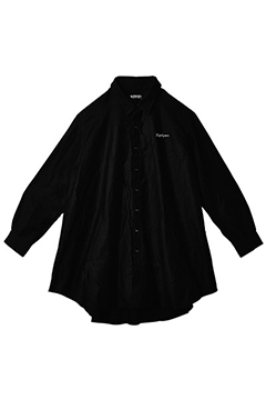 PONCHO SHIRT L/S -Resolve- BLACK
