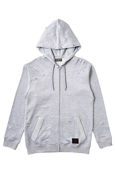 CLASHED ZIP PARKA GRAY