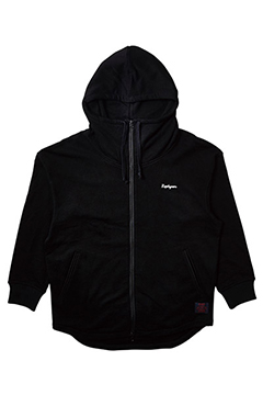 BIG ZIP PARKA BLACK