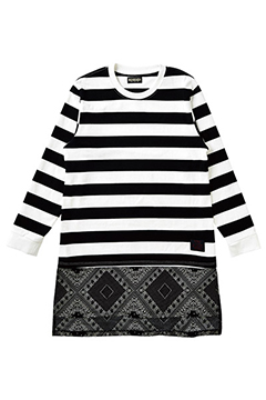 SWITCHING L/S TEE BLACK-BORDER