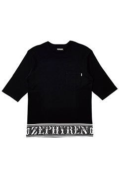 7/S TEE -Over the line- BLACK-CREW