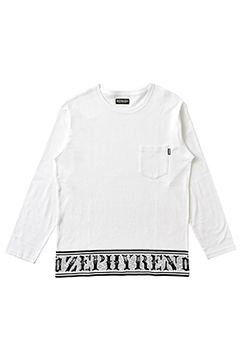 L/S TEE -Over the line- WHITE-CREW