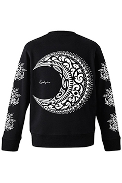 PILE SWEAT -MOON- BLACK