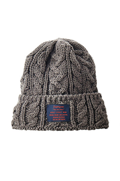 CABLE BEANIE -You are here- CHARCOAL