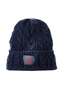 CABLE BEANIE -You are here- NAVY