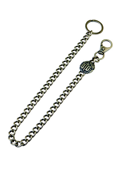 WALLET CHAIN -ENGRAVE- ANTIQUE-SILVER