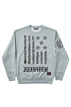 LIGHT WEIGHT SWEAT-REBEL FLAG- GRY