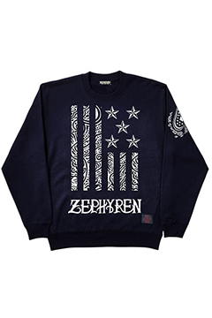 LIGHT WEIGHT SWEAT-REBEL FLAG- NVY